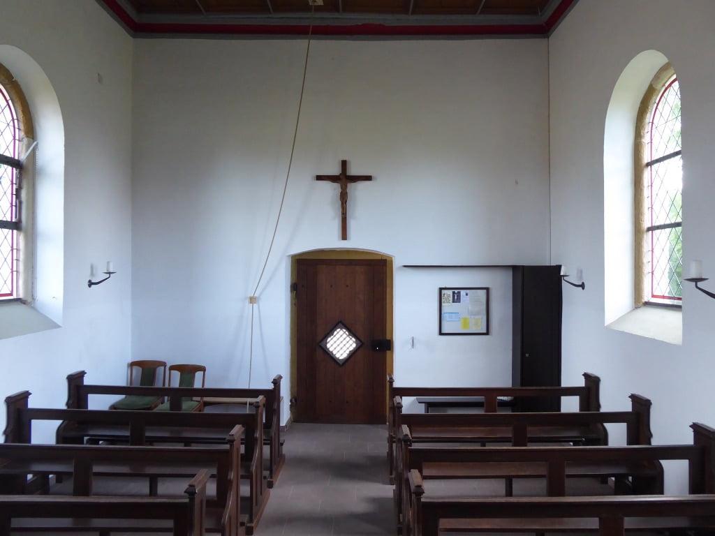 Kapelle Dromberg Sicht vom Altar